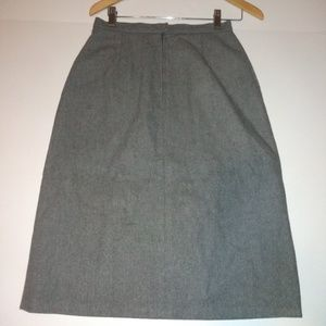 Fully Lined Vintage Wool Skirt Size 12